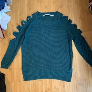 Turqouise Blue Knit Sweater